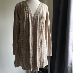 Karen Scott duster cardigan. Light brown.  Medium